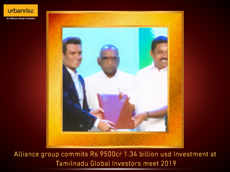 Alliance group commits rs 9500cr 1.34 billion usd investment at tamilnadu global investors meet 2019